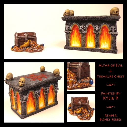 Fiery Altar & Treasure Chest Collage